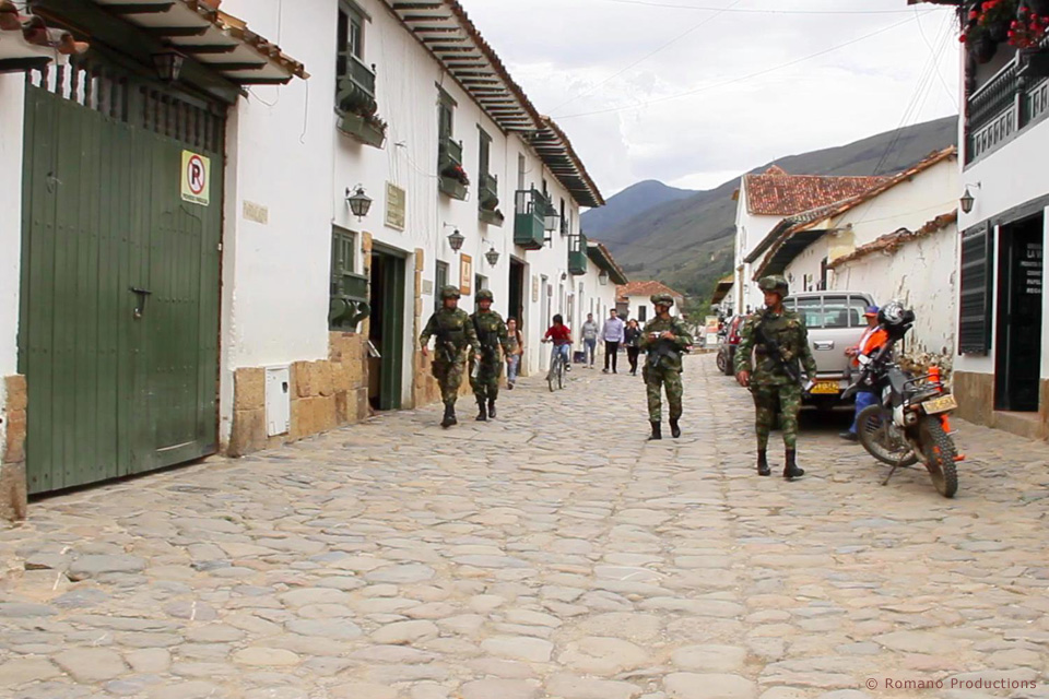 Colombian Army On Patrol For Kidnappers, Terrorists and Extortionists