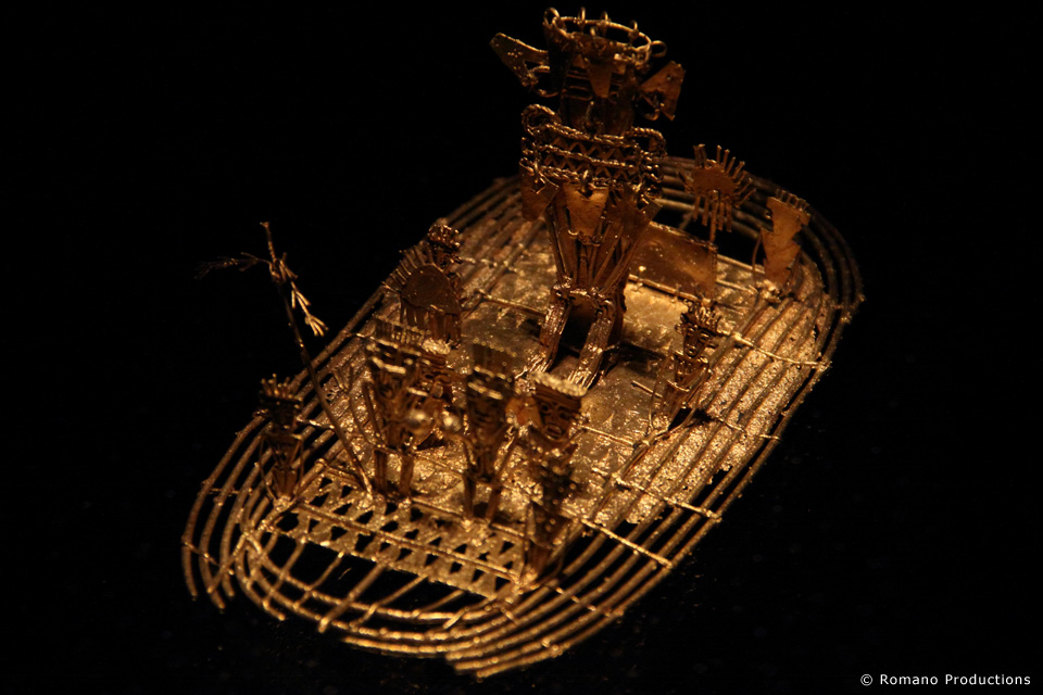 Ceremonial Gold Raft called a Zipa