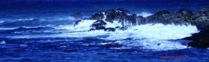 Volcanic Rock in the Pacific Ocean